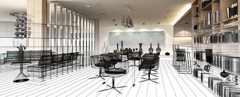 Mô hình 3D trong thiết kế nội thất